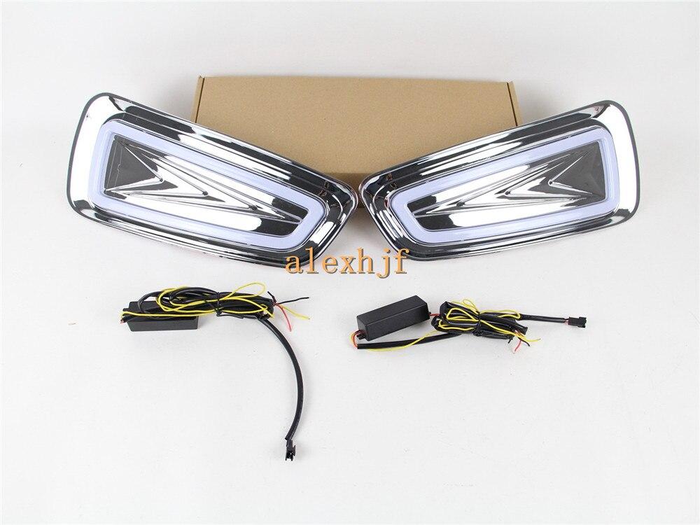 July King LED Light Guide Daytime Running Lights DRL, LED Fog Lamp Case for Ford F-150 SVT Raptor 2010~2014 1:1, fast shipping