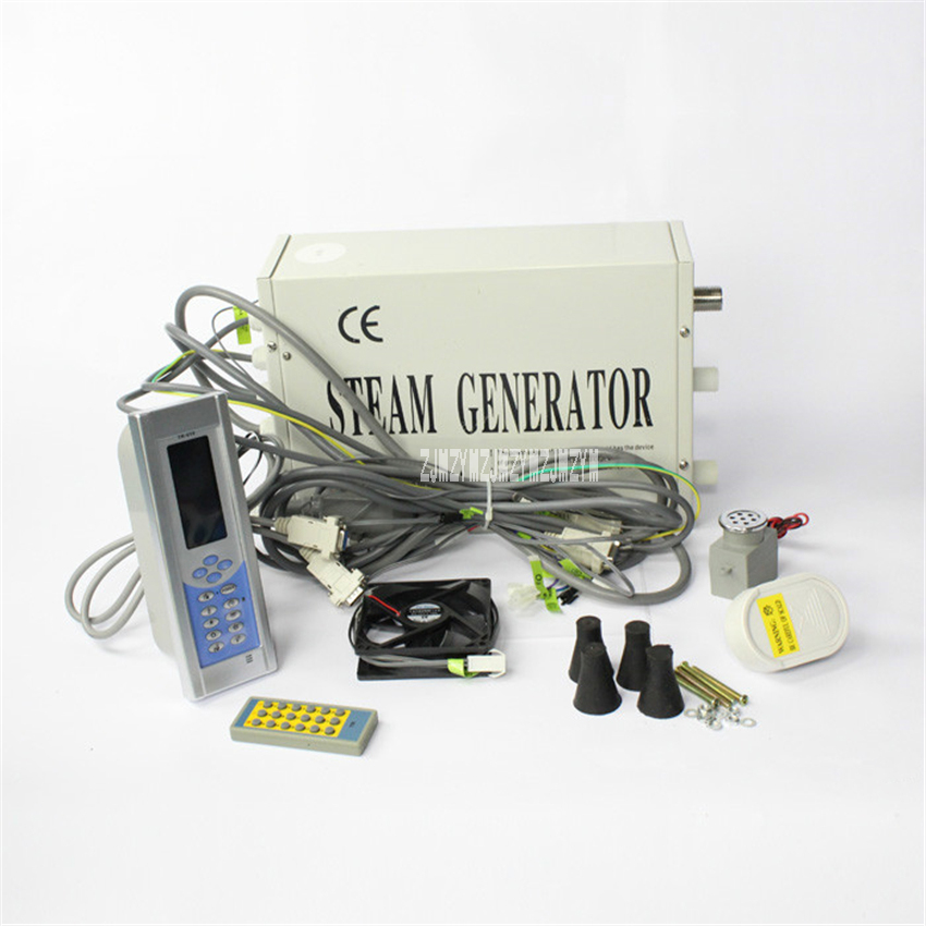 TR-019 Steam Generator System Home Shower Room Steam Generator Sauna Bath Steam Equipment With Remote Control 110V/220V 3000W цена