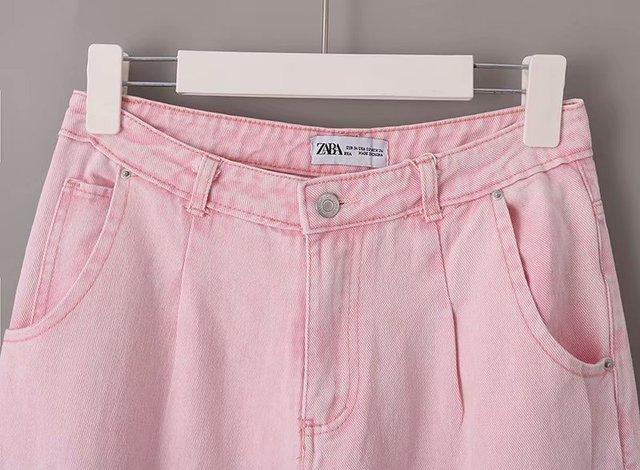 Toppies Woman Baggy Jeans Pink Harem Pants Loose Trousers 2021 Summer Women Leisure Pants Korean style Streetwear Wide Cut 3