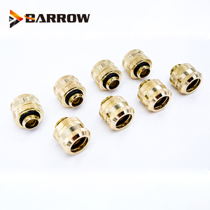 Image 5 - 8 Stks/partij OD12/14/16 Mm Harde Buis Montage Water Koeling Metalen Connector G1/4 OD12mm 14 Mm OD16mm Hand Compressie Messing Fitting