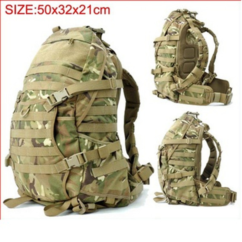 купить Military Camouflage tactical assault backpack Molle Airsoft Hunting Camping Survival Outdoor Sports hiking trips climbing bags по цене 2665.5 рублей