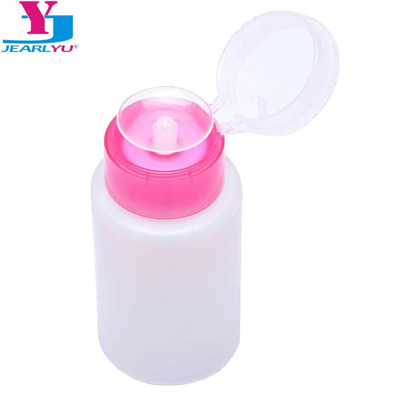 1 Pc Portable Press Empty Refillable Bottle 150ML Liquid Alcohol Pump UV Gel Nail Polish Cleaner Acetone Water Remover Dispenser