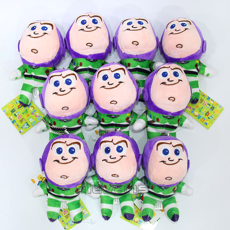 Toy Story Woody Buzz Lightyear Mini Plush Toys Soft Stuffed Animal Dolls 10pcs/lot