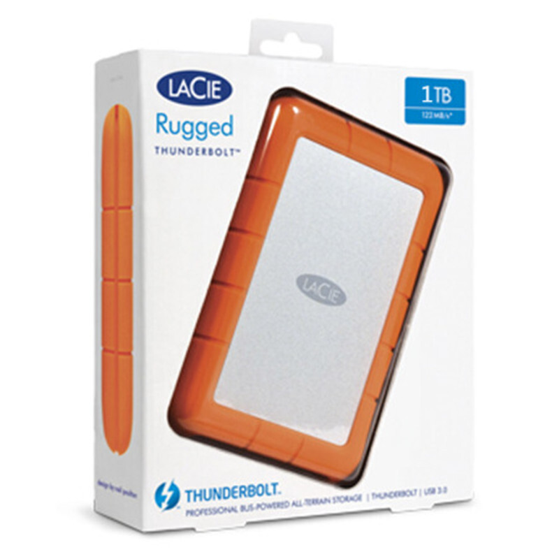 "Image 5 - Seagate LaCie Rugged 1TB 2TB 4TB Thunderbolt and USB 3.0 Portable Hard Drive 2.5"" External HDD Sport HDD for Laptop Desktop-in External Hard Drives from Computer & Office"