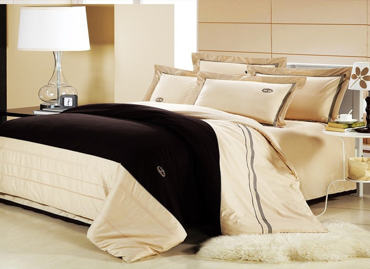 Attirant Classical Cream 4pcs Luxury Bedding Set Queen/King Size 100% Cotton  Embroidery Home Hotel Comforter Cover Bedsheet Set/B2178 In Bedding Sets  From Home ...