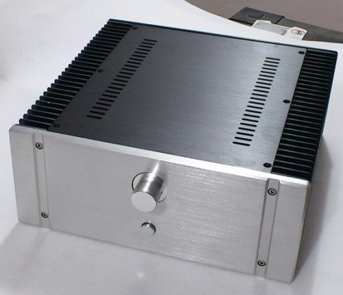 Silver 32-120 Full aluminum chassis Amplifier Case Power amp box 320x120x311mm queenway audio 2215 cnc full aluminum amplifier case amp chassis box 221 5mm150mm 311mm 221 5 150 311mm