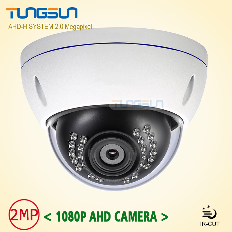 New HD 2MP 1080P AHD Camera CCTV White Metal Dome Home Security Video Surveillance Waterproof IR Night Vision Vandal-proof zea afs011 600tvl hd cctv surveillance camera w 36 ir led white pal