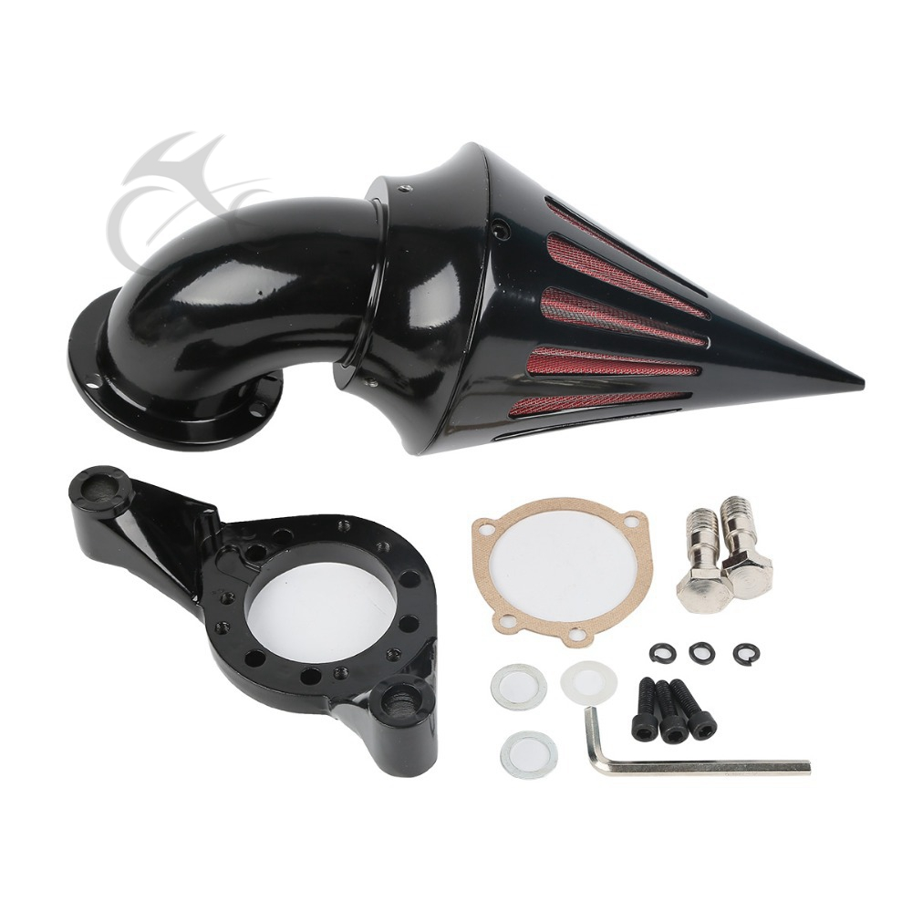 New Spike Air Cleaner Kits Intake Filter For Harley CV Carburetor V-Twin chrom cone spike air cleaner intake filter kit for harley sportste cv s