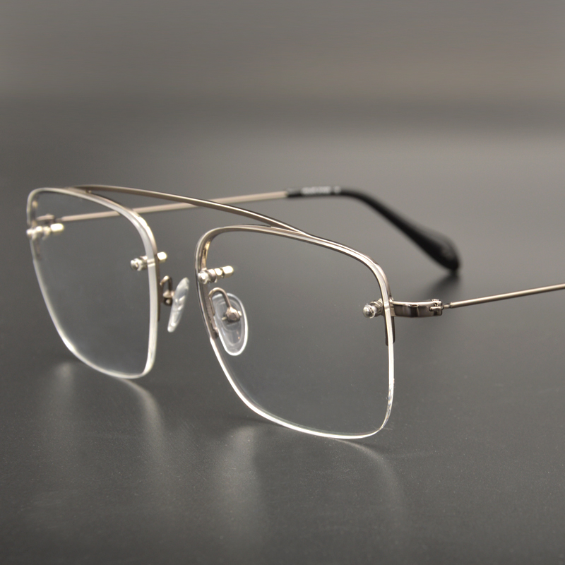 4222ee3b72 Raees Shahrukh Khan Eyeglasses Vintage Fashion Gold Square Semi Rim  Computer Clear Lenses For Men-in Eyewear Frames from Apparel Accessories on  ...