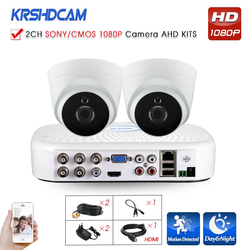 Secutiry cctv AHD System 1080N XVR FULL HD SONY/CMOS 1080P 3000TVL AHD Camera 2.8mmplastic indoor dome surveillance night Vision