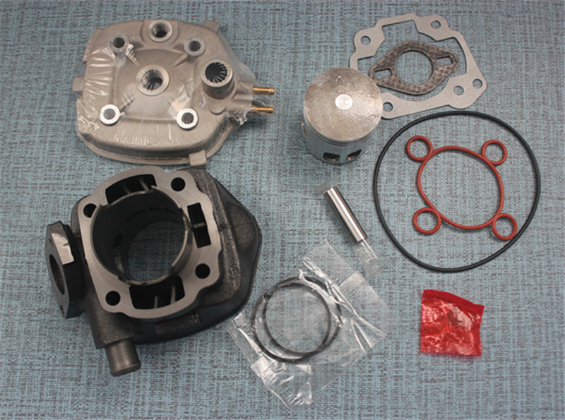 70cc Cylinder Gasket Kit With Piston Kit For Yamaha Aprilia Aerox Jog Sr 50 47mm Piston With 10mm Pin Water Cool 47mm 10mm 70cc big bore cylinder barrel kit head for aprilia gulliver rally scarabeo sonic sr 50cc