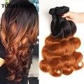 Queen hair produtos onda do corpo peruano virgem do cabelo 4 pacote ofertas Loira Ombre Peruano Virgin Cabelo da Onda Do Corpo Do Cabelo Humano tecer