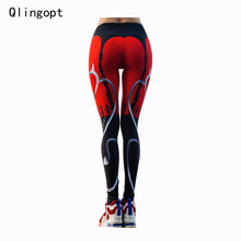 Qlingopt women fitness leggings casual pants sporting leggins print red legging workout womens legins mujer adventure
