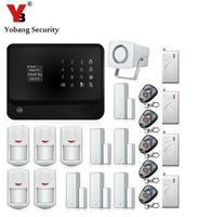 YobangSecurity Dokunmatik Tuş Akıllı Ev Güvenlik WIFI GSM Alarm Sistemi Android IOS APP Kontrol Mıknatıs Kapı Sensörü Şok Sensörü
