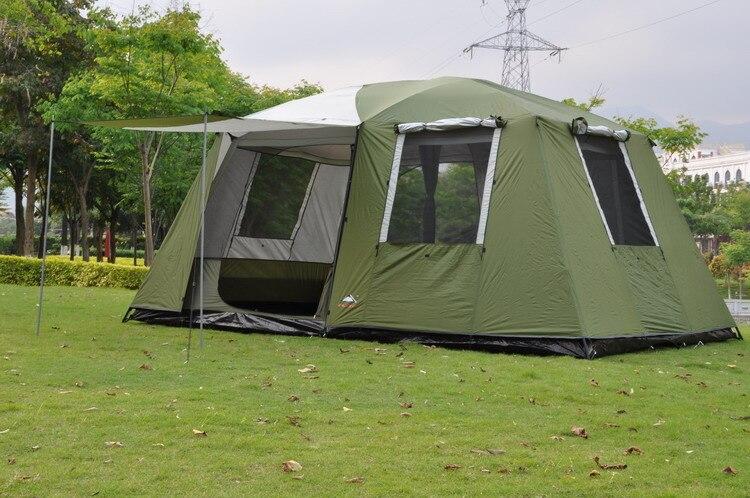 2017 di alta qualità 6-12 persone grande spazio super forte antivento impermeabile di campeggio famiglia tenda del partito