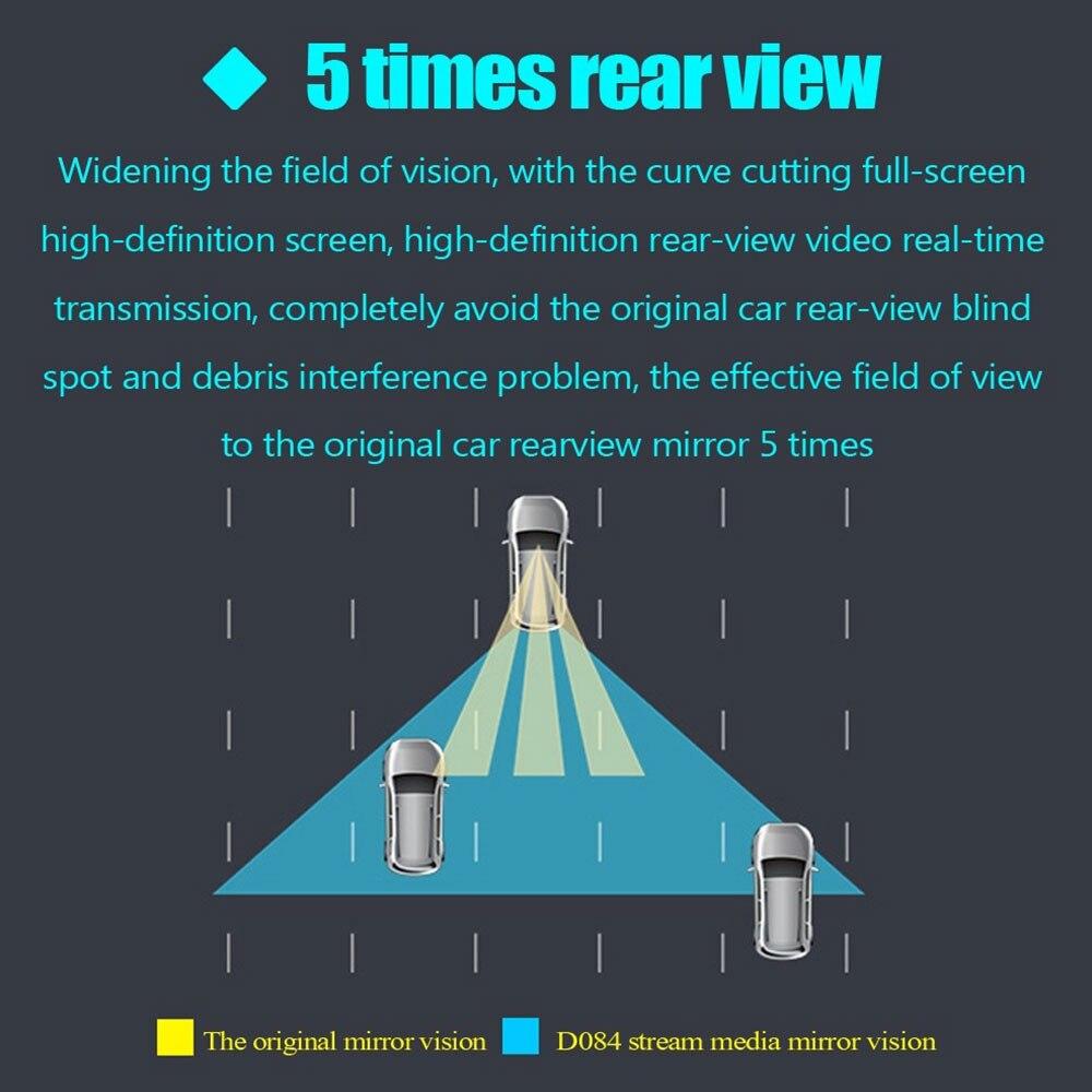 Зеркало заднего вида поток медиа ночного видения тире камера портативный автомобиль Автомобильный регистратор DVR Камера Ультратонкий двойной объектив