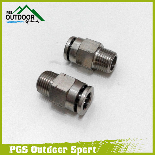 A Lot Of 2 Paintball Straight Macro Micro Line Hose Elbow Fitting