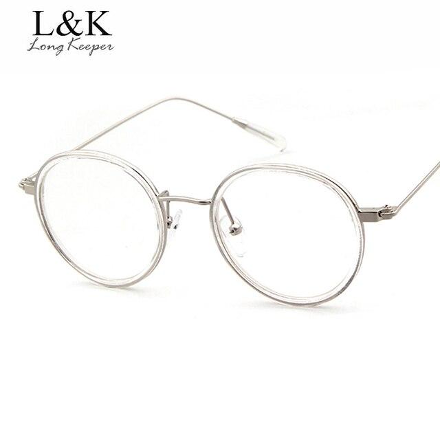 10231627a950 Long Keeper Round Good High Quality Women's Eyeglasses Vintage Eyewears Men  Clear Lens Reading Optical Glasses