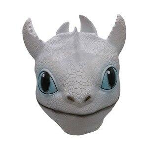 Image 2 - Новинка, Как приручить дракона светильник ящаяся Фурия, искусственная кожа, латексные маски для детей и взрослых, реквизит для косплея, игрушка в подарок