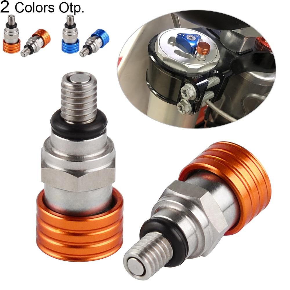 M4x0.7 conjunto de válvulas de alivio de presión de aire de horquilla para KTM 50 150 200 250 350 400 450 500 525 530 EXC SX SXF XCW MXC Etc Manillar de agarre de Gel de freno de goma para motocicleta de 7/8