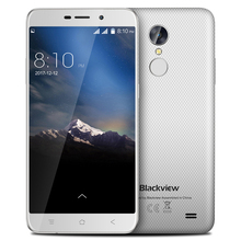 Blackview A10 Android 7.0 3G Smartphone MT6580A Quad Core 2GB RAM 16GB ROM 5inch HD Fingerprint 8.0MP Rear Camera Mobile Phone