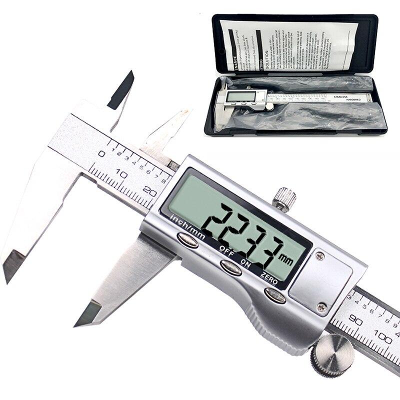 Metall sattel 6-Zoll 150mm Edelstahl Elektronische Digitale Messschieber Mikrometer Mess Werkzeug Sattel