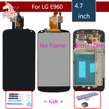 4.7'' Display For LG Optimus Google Nexus 4 LCD Display For LG E960 LCD Touch Screen Nexus4 LCD With frame Replacement replacement parts high quality 4 7 for lg google nexus 4 e960 lcd display touch screen digitizer frame assembly black color