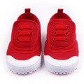 Alta Calidad Tres Colores Diseño Sólido Gancho y Lazo Suave Único Bebé Zapatos Casuales Para Niños