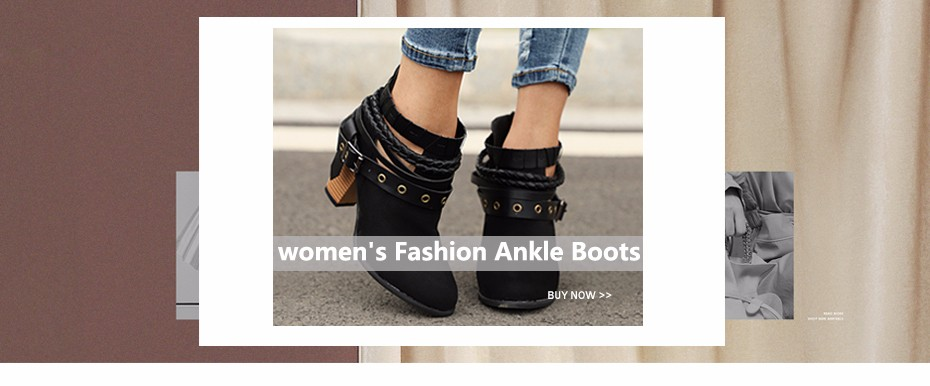 ab5c10608656 MCCKLE Female Fashion Ankle Strap Two Piece Black Chunky Heel High Heels  2018 Women s Comfortable Pumps Ladies Plus Size Shoes
