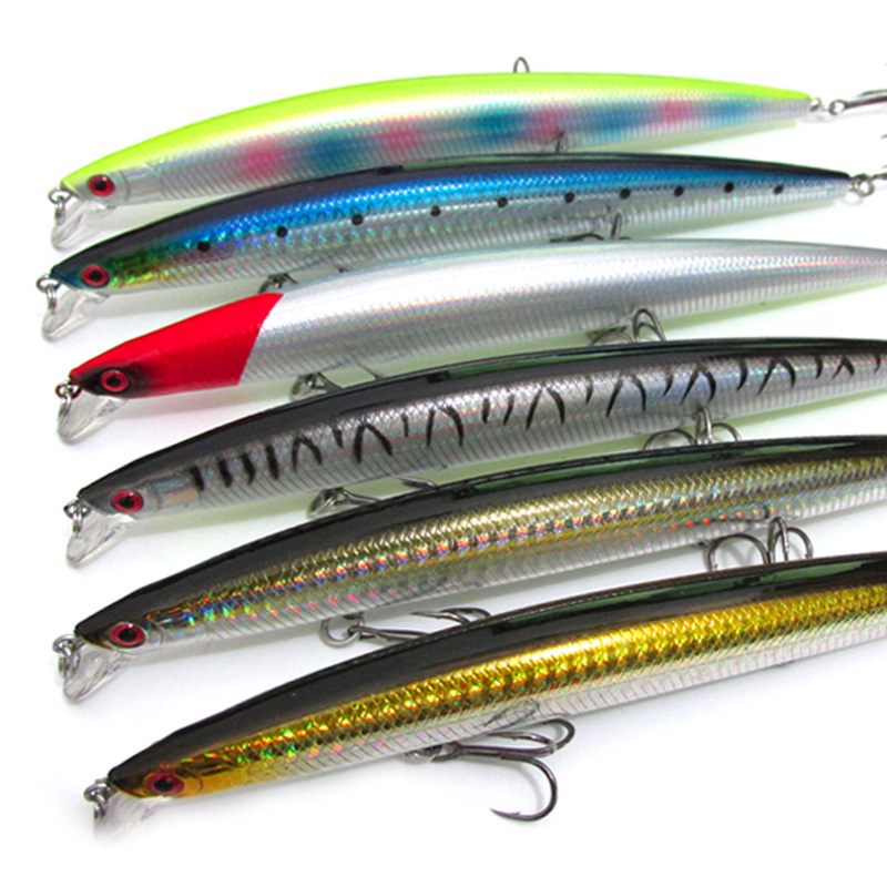 Fishing Minnow Big Game Lure Baits 17cm 27g Sea Bass Killer Long Range Attack Artificial Floating Lures Bait 1 Piece Sale rigged custom big game marlin tuna hawaiian deep sea trolling lure