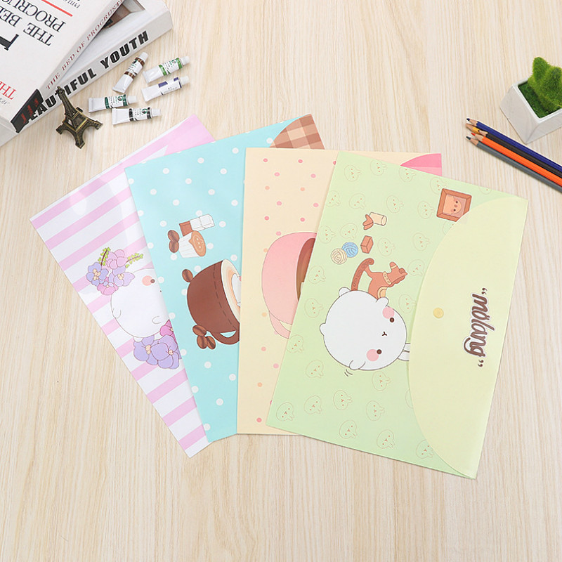 50 Pcs 33*23CM Waterproof Plastic Buckle Folder Book Pencil Case Bag File Document For Office Student Supplies Filing Products