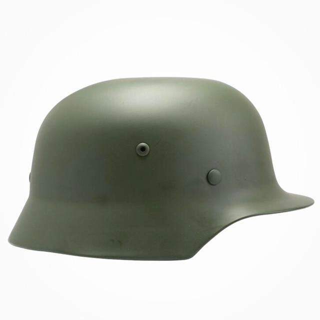 US $74 99 |SPIRIT TACTICAL Green German M35 Steel Helmet / WW II M35 German  helmet/ Safety Helmet/ Oliver Drab World War 2 Helmet-in Helmets from