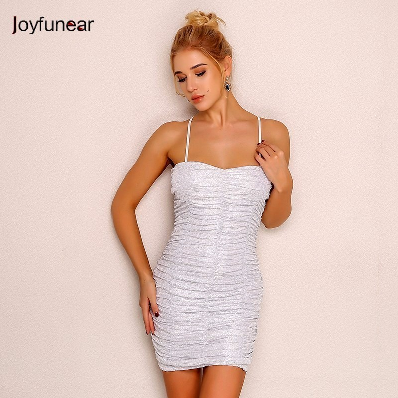 Joyfunear White Strapless Party Dress 4DAK265