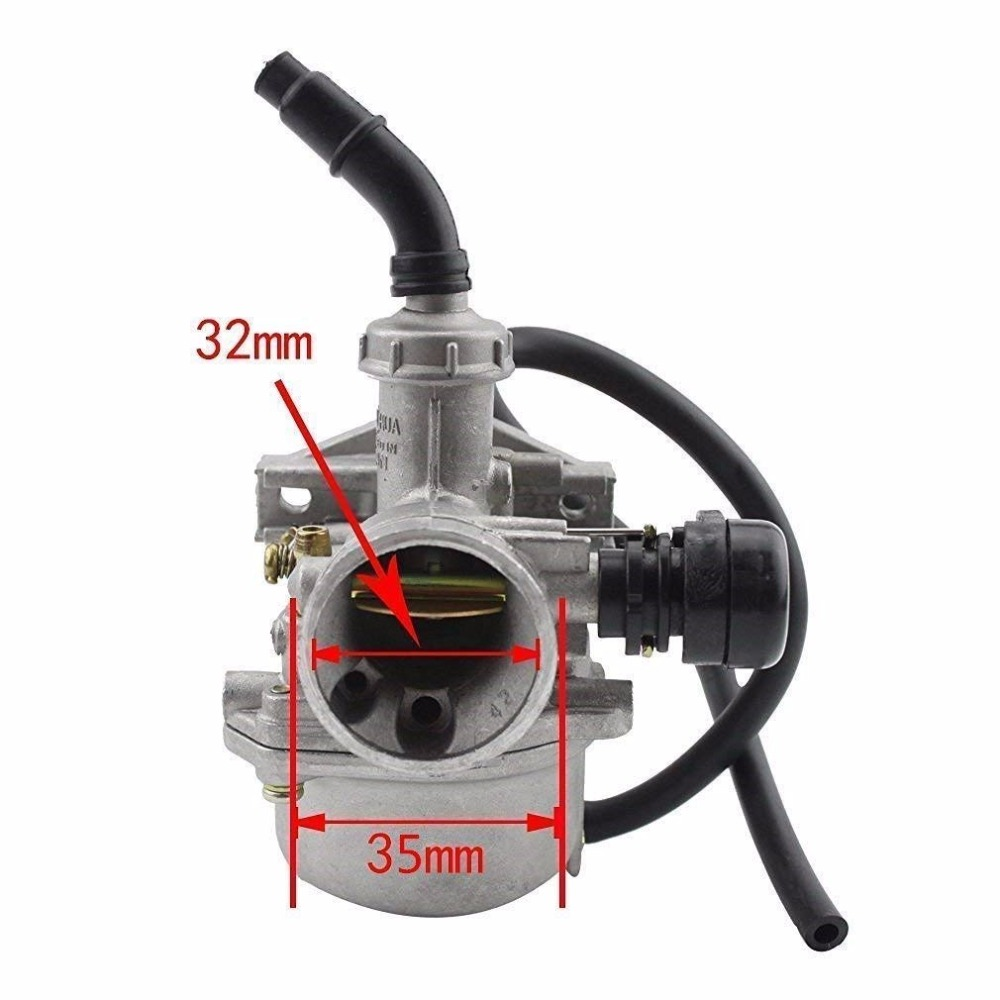 Image 3 - GOOFIT PZ19 Carburetor with Air Filter for Chinese 50cc 70cc 90cc 110cc 125cc ATV Scooter Dirt Bike Group 101-in Carburetor from Automobiles & Motorcycles