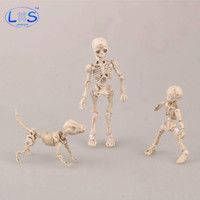 LONSUN PVC Action Figure Model Doll Pose Skeleton Human Man Child And Dog Jointed Posable