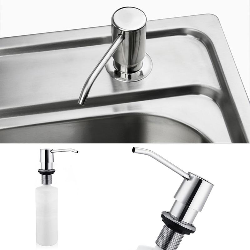 Kitchen sink soap dispenser abs plastic built in lotion - Built in soap dispenser in bathroom ...