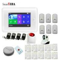 SmartYIBA Аварийная сигнализация wifi gsm охранной дверная сигнализация с IP Камера умный дом умный будильник Наборы