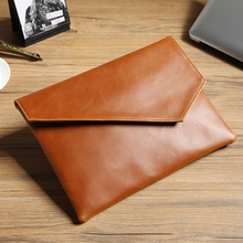 Clutch Bag Envelope A4 Data Thin File Package Portafolio Briefcase Men Work Business Office PU Leather Glossy