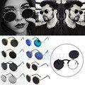 1 pc new metal frame rodada flip up óculos de sol das mulheres dos homens do vintage óculos óculos óculos de lente