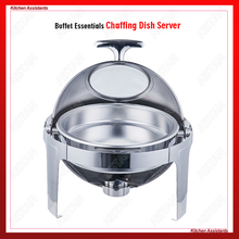 K05-1 stainless steel commercial round top lid chafing dish/buffet for hotel and restaurant
