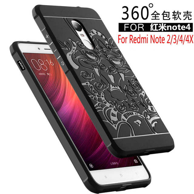 For Xiaomi Redmi Note 4 4X 2 3 Case Luxury silicone hard Protective back cover cases for xiaomi redmi note 4X 2 3 4 phone shell