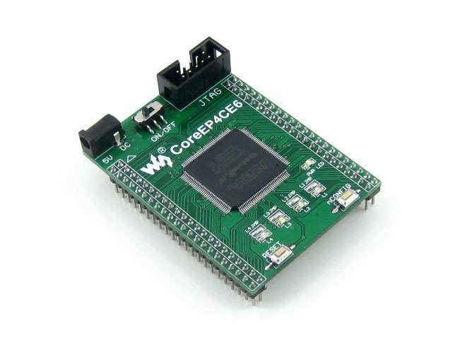 Parts Waveshare Altera Cyclone Board CoreEP4CE6 EP4CE6E22C8N EP4CE6 ALTERA Cyclone IV CPLD & FPGA Development Core Board Full IO module usb blaster v2 download cable altera fpga cpld usb blaster programmer debugger for altera cyclone from waveshare freeship