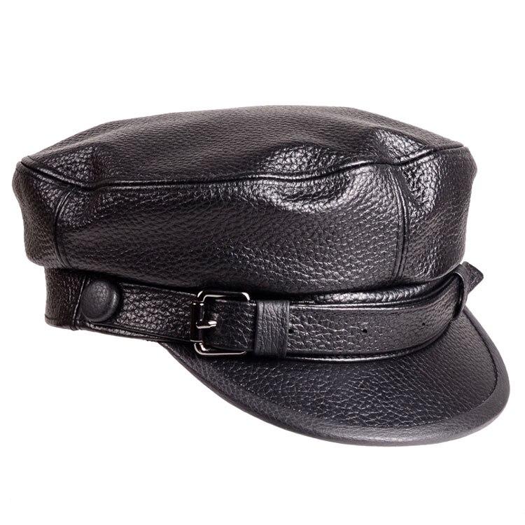Xongkoro из коровьей кожи Военная Униформа шляпу с плоским верхом темно-Кепки Обувь для  ...
