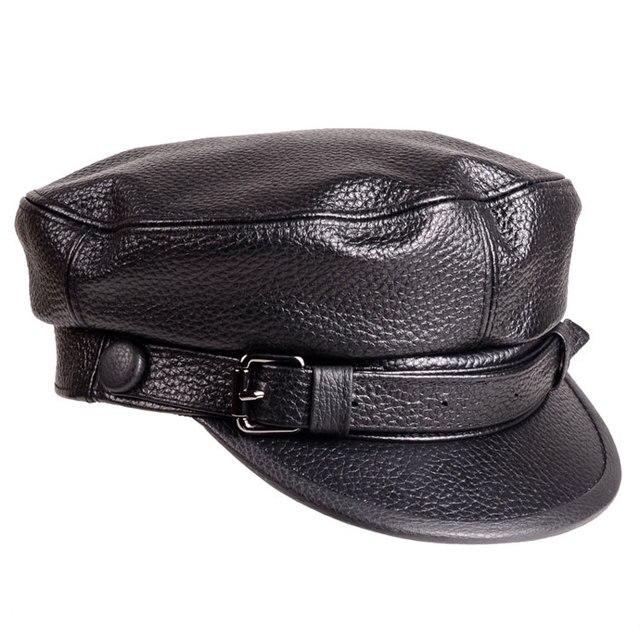 Xongkoro vaca Militar sombrero Flat Top Navy Cap Niños Niñas old fashion  Viseras color negro sombrero 866a34739a0