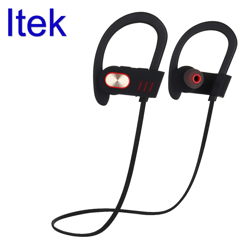 Itek Wireless Ear Hook Sport Running Bluetooth Earphones High Quality Stereo Noise Canceling Headset with Mic for iPhone Tablets