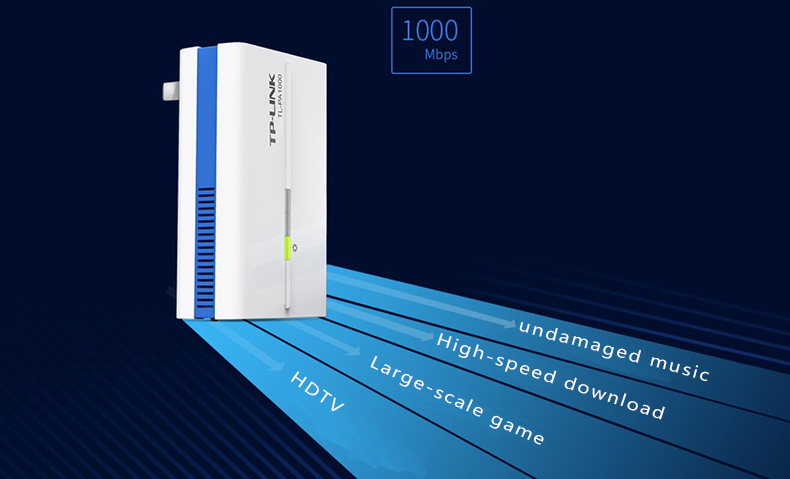 Power line adapter TP LINK TL PA1000 1000Mbps Powerline adapter Cat ...