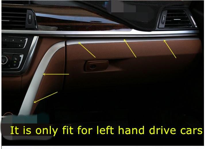 2*Steel Matt Console Board Strip Cover Trim For BMW F30 316i 320i 328i 2013 2014 2015 полуось на bmw 316i в беларуси