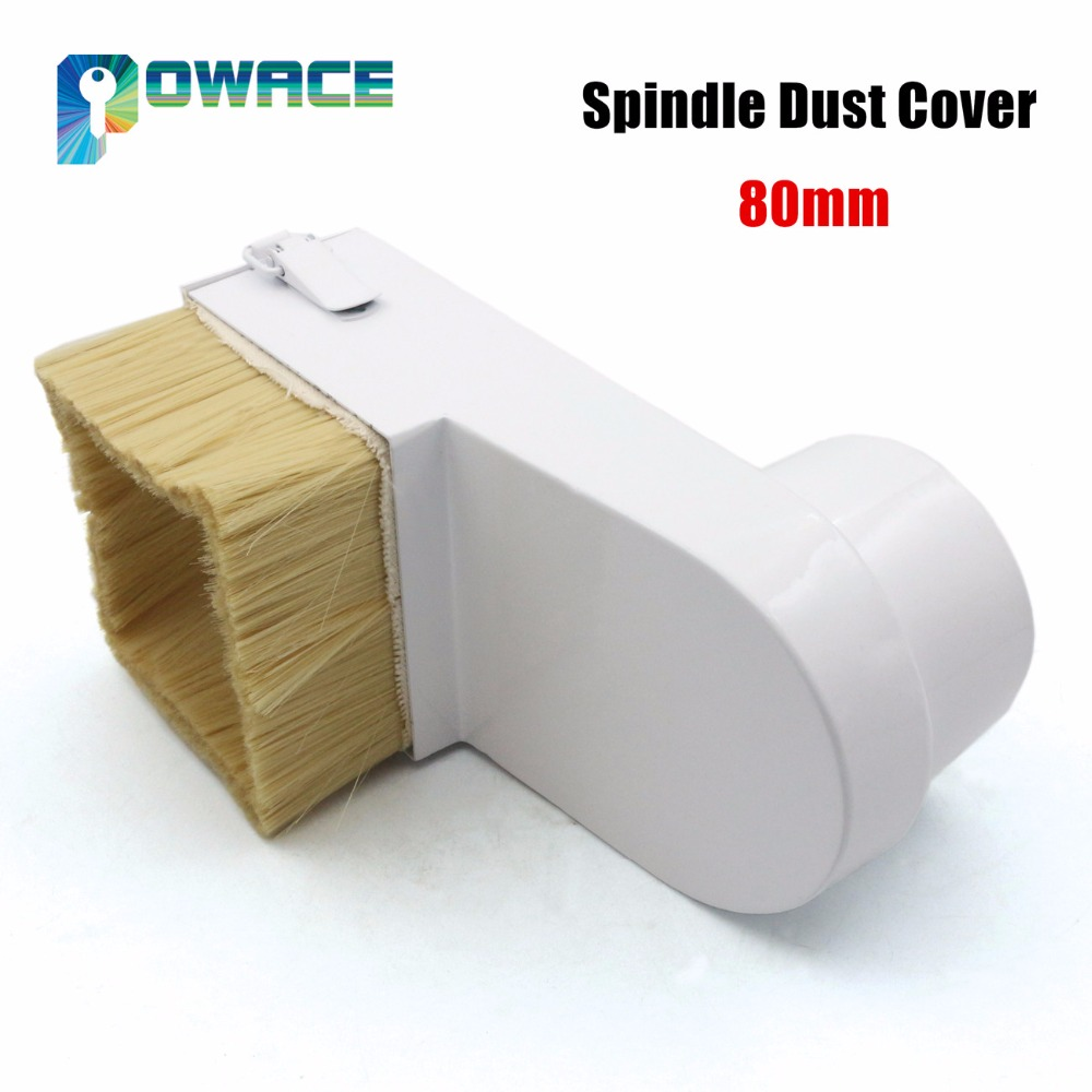 80mm Spindle Dust Cover CNC Router Vacuum Cleaner Dust protection for CNC woodworking engraving machine Dustproof dust removal