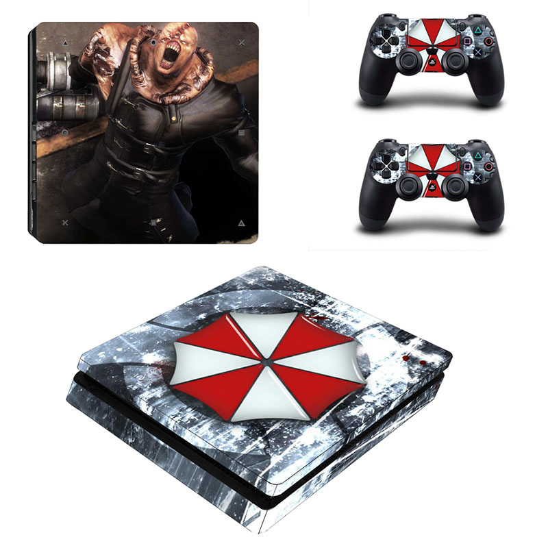 US $8 8 26% OFF|HOMEREALLY PS4 Slim Skin Resident Evil Umbrella Logo  Sticker Cover For Playstation 4 Slim Console and Controller Skin PS4  Silm-in