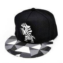 Lovers Hip-hop Cap Dad Bones Drake Hat Male Ms. Cute  Zebra Rubber Hat Snapback Flat-brimmed Hat цена и фото